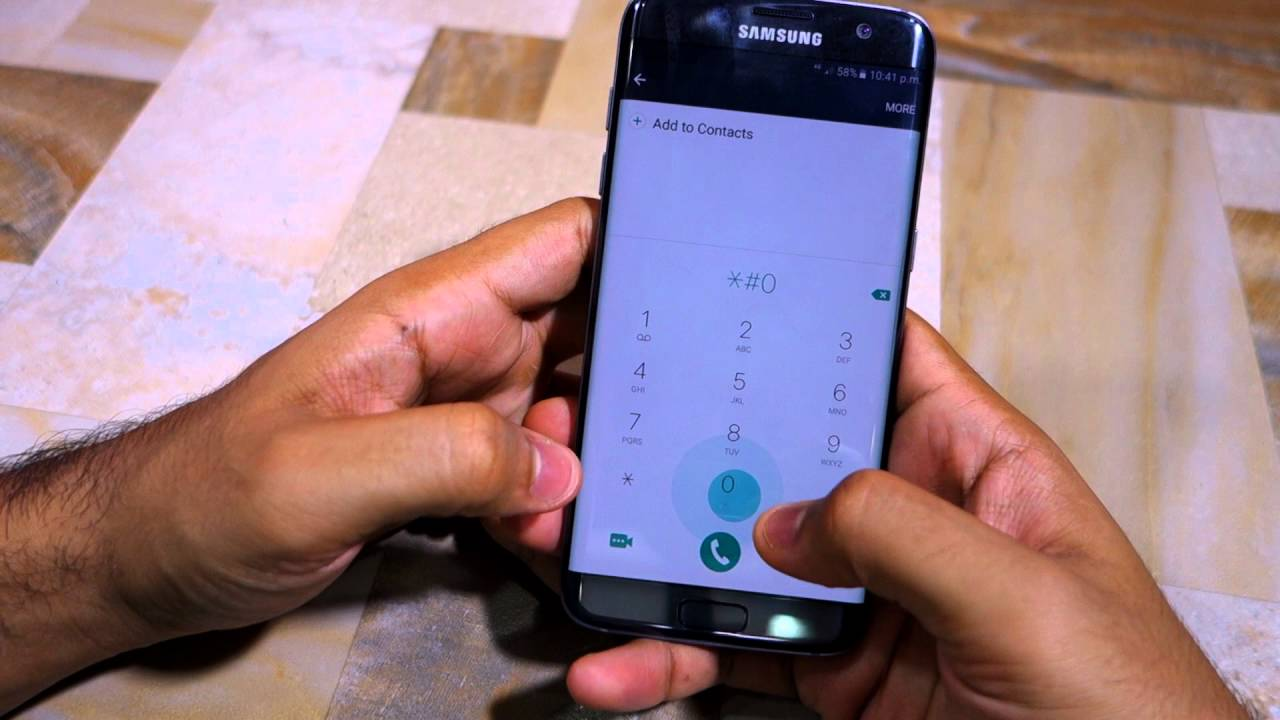 Access hidden service menu on Galaxy S7 and Galaxy S7 edge - YouTube