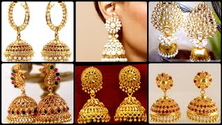 Stunning Artificial And Gold Earrings Designed With Gemstones, Crystals and pearls [Must Watch]
