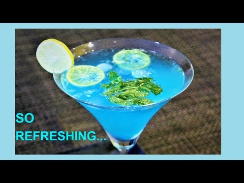 Instant Blue Lagoon Mocktail Recipe | Summer Drink | Non-Alcoholic Party Drink | Blue Lemonade Drink