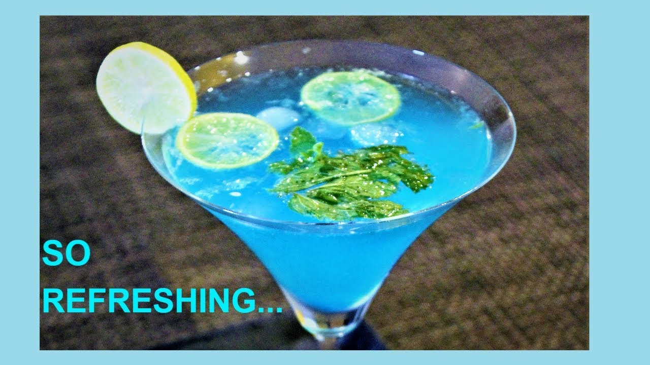 Blue Curacao Cocktail Alkoholfrei Instant Blue Lagoon Mocktail Recipe Summer Drink Non Alcoholic Party Drink Blue Lemonade Drink