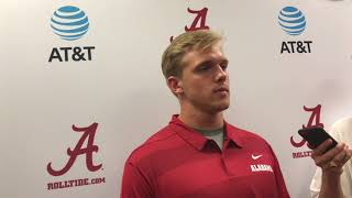 Recovering from torn ACL with Alabama TE Miller Forristall