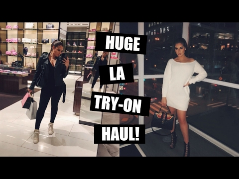 WHAT I GOT IN LA♡ TRY ON CLOTHING HAUL