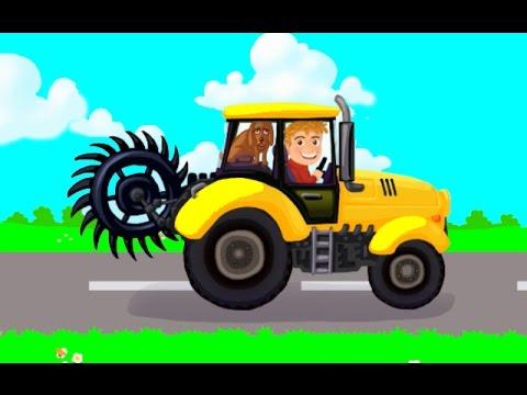 Мультик про трактор. Мультфильм про трактор. Строительная техника для детей. Мойка машин.