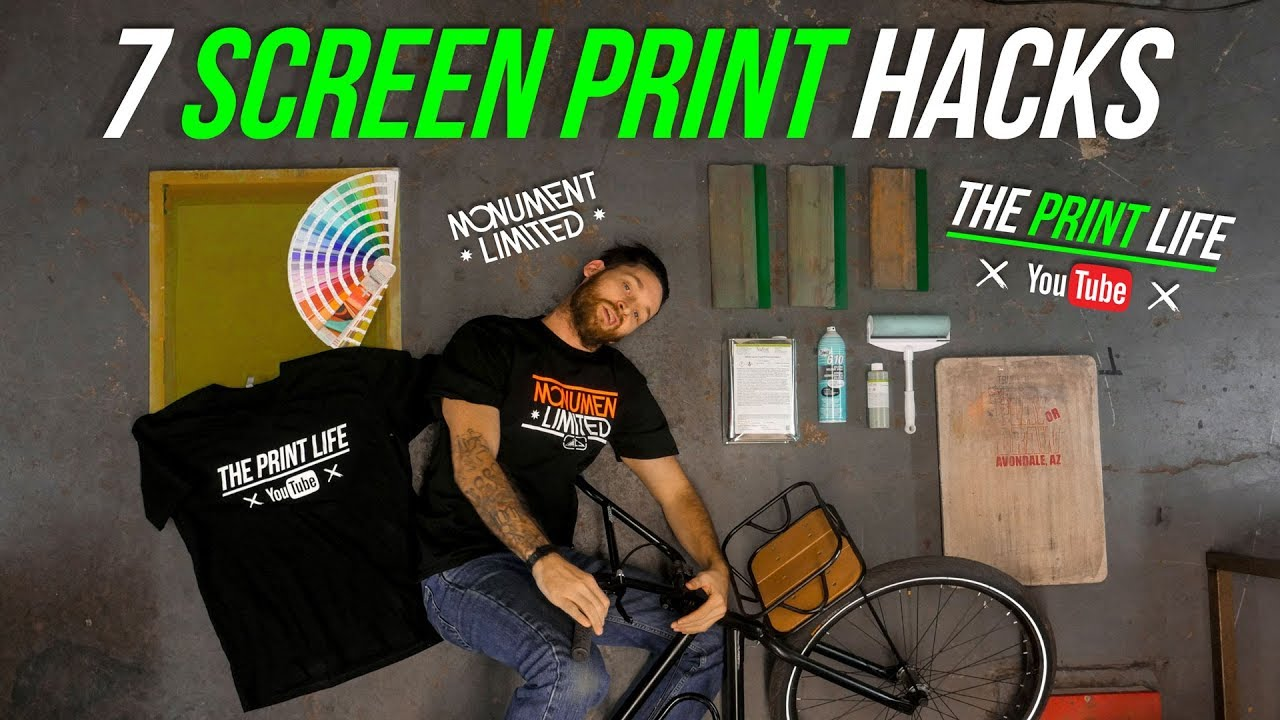 the best attitude f8299 bd5b6 7 screen printing hacks and tips | How to Make Your T Shirt Print Shop More  Efficient.