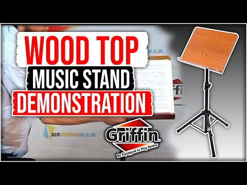 Griffin Wood Top Support Music Stand Demonstration & Review for musician Model LK341