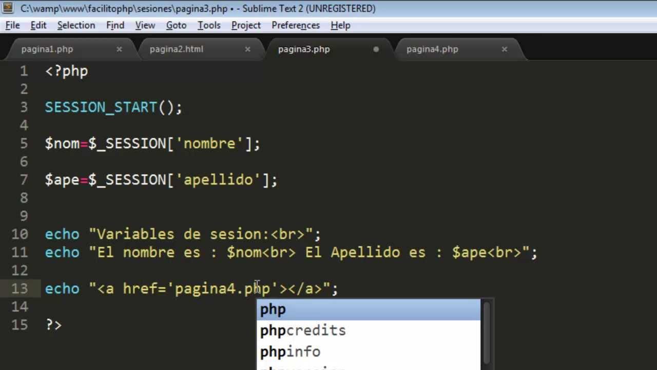 Sesiones en PHP | Uso de Sesiones en PHP | Ejemplos de Sesiones en ...