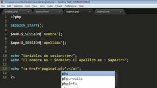 Sesiones en PHP | Uso de Sesiones en PHP | Ejemplos de Sesiones en PHP | FACILITO PHP 20-PARTE 2