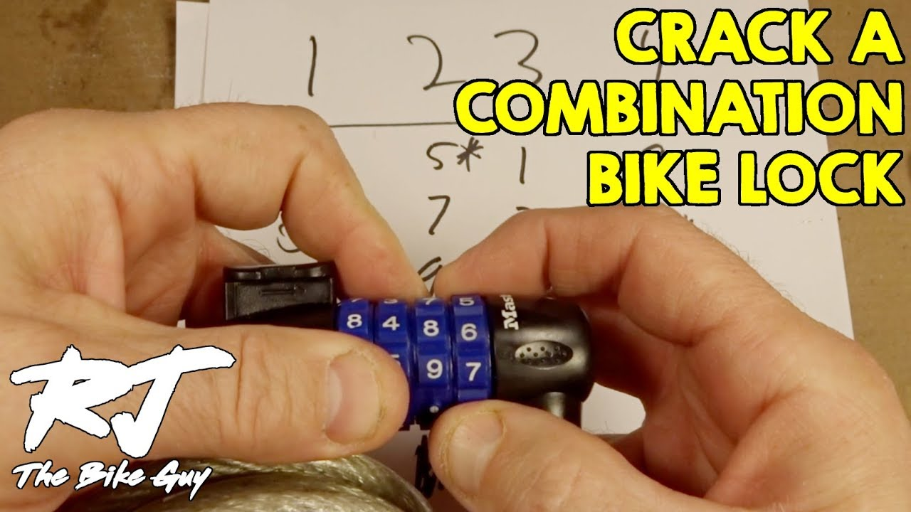 How To Open Bike Lock Without Combination - Advanced Lesson