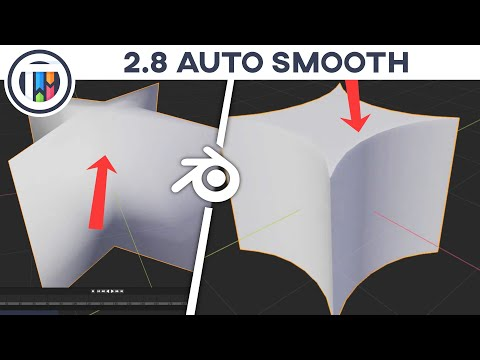 Blender 2.8 Tutorial - How To Auto Smooth In 2.8