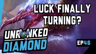 LUCK FINALLY TURNING AROUND? - Unranked to Diamond Ep 46 (League of Legends)