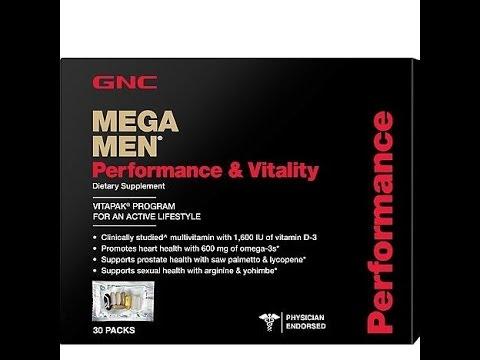 Mega Men Performance & Vitality Vitapak