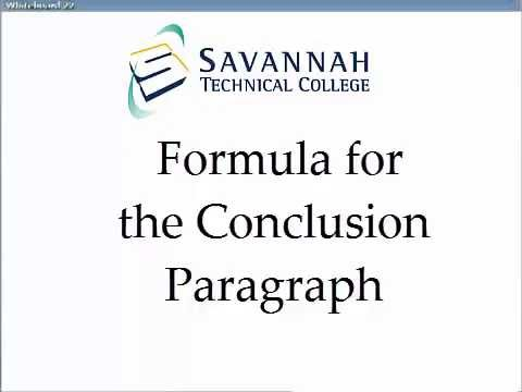 Conclusion Paragraphs A Simple Formula for Academic Essays - YouTube