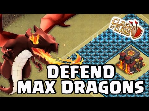 Clash of Clans | DEFENDING MAX DRAGONS! (Best CC Troop?)