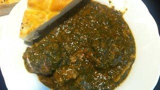 Indisches Fleisch Spinat Eintopfgericht (Saag Gosht)