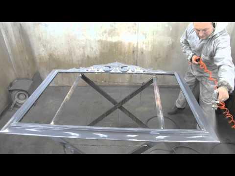 Cмотреть онлайн Декорирование хромом рамки МДФ для зеркала