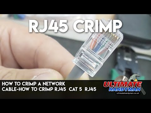 How to crimp a network cable-How to Crimp Rj45 | Cat 5 | RJ45