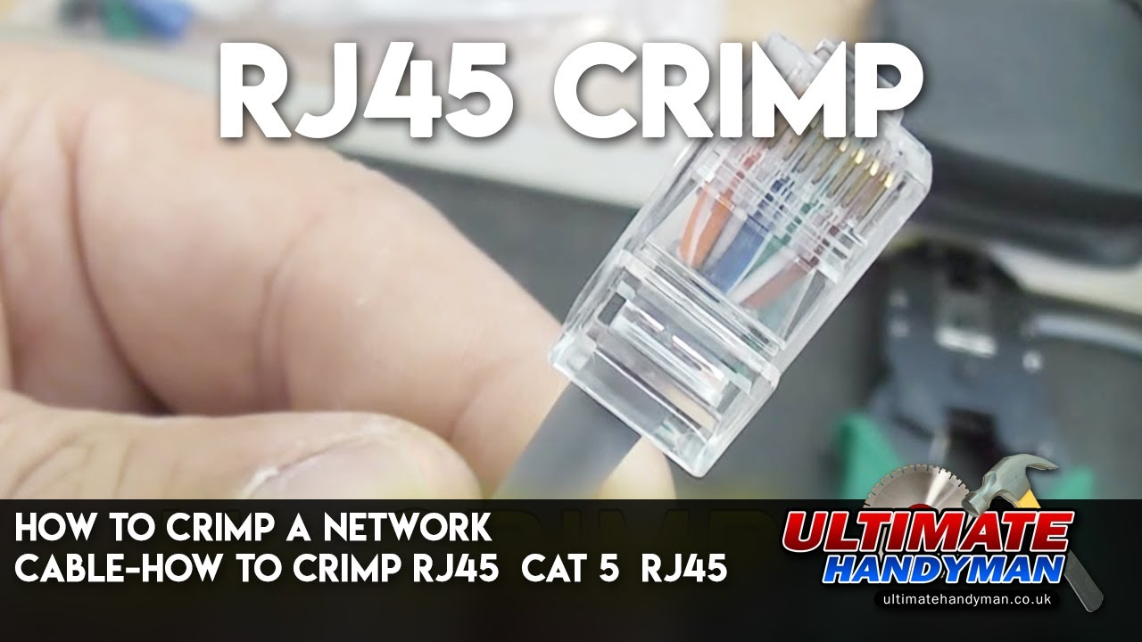 How To Crimp A Network Cable Rj45 Cat 5 Youtube Cat5e Wiring Diagram Uk