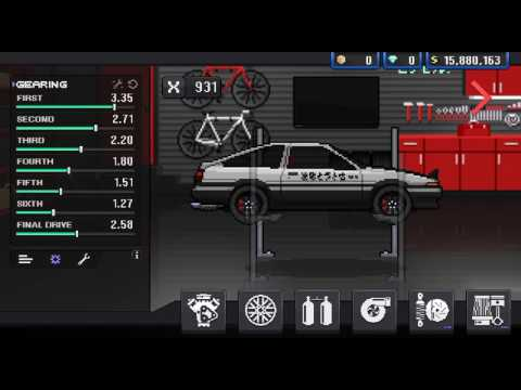 Toyota Tune Up PIXEL CAR RACER || AE86 1/4 MILE TUNE - YouTube