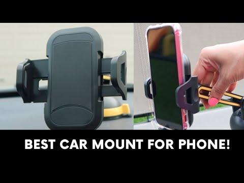 Best Adjustable Car Mount Dashboard & Windshield Phone Holder 2019