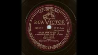 Kodaly Hary Janos Suite (Ormandy-Minneapolis, 1934)