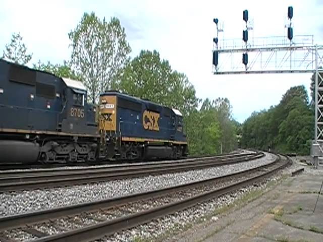 CSX at Connellsville,PA Travel Video