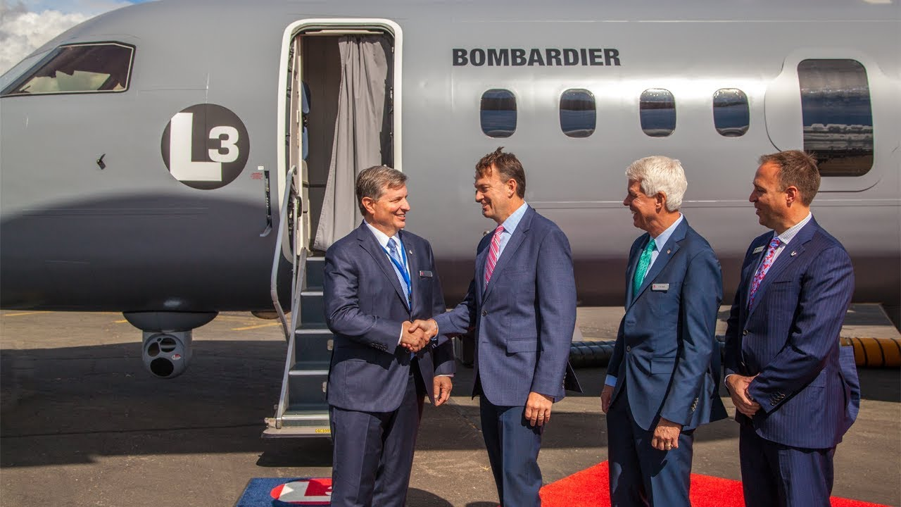 L3 Technologies and Bombardier Mark Debut of L3 Q400 Multi-Mission Aircraft  at Farnborough 2018