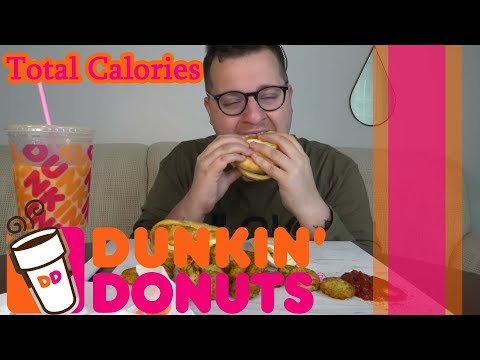Mukbang Calorie Counting.... GrubUnleashed18... Dunkin Donuts