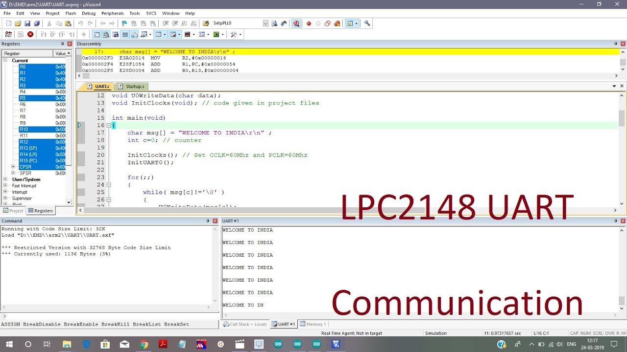 LPC2148 UART Communication