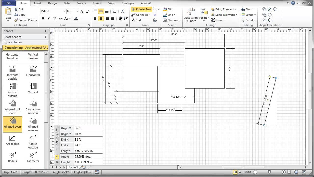 Visio 2010 dimensioning tutorial youtube youtube premium malvernweather Gallery