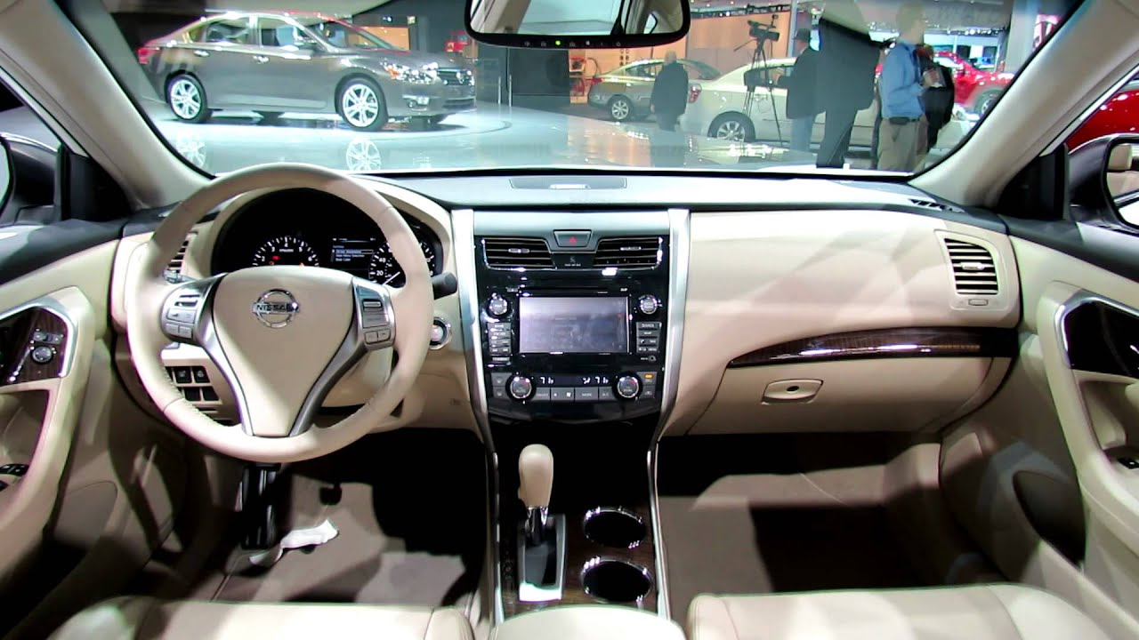 New Nissan Altima >> 2013 Nissan Altima Interior - Debut at 2012 New York Auto Show - YouTube