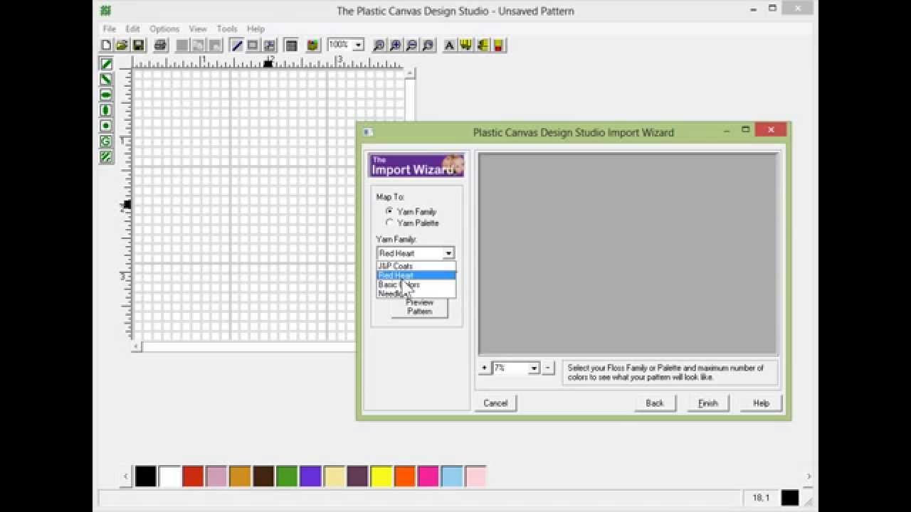 Starting Out Designing In Plastic Canvas Design Studio Youtube