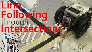 program your ev3 line follower to cross intersections in lines unaffected