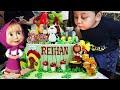 SELAMAT ULANG TAHUN REIHAN KE 4 - Happy 4th Birthday Reihan with Masha and The Bear Birthday Cake