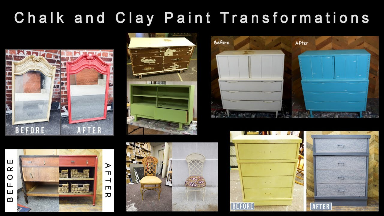 Examples Of Chalk And Clay Paint Furniture Transformations Refreshing Before Afters