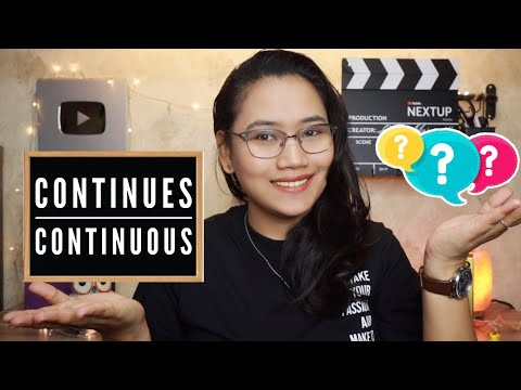 Continues or Continuous - English Grammar | CSE and UPCAT Review