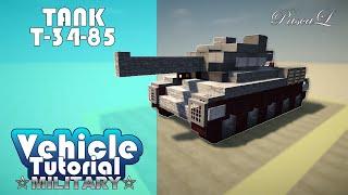 Как построить Танк Т-34-85 в Minecraft! | VTM #6(По просьбе подписчика построил для вас Советский средний танк Т-34-85! ------------------------------------------------------------------------..., 2016-02-20T21:40:35.000Z)