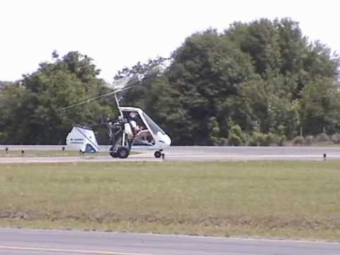 Sport Copter Vortex Gyroplane short  takeoffs at Bensen Days 2010