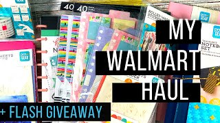 Wal-Mart Haul|Pen & Gear|Happy Planner| + Flash Giveaway! *CLOSED*
