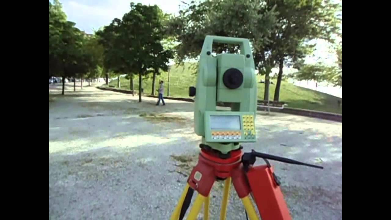 Estacion Robotica Leica Tcra 1103 Con Survce Siguiendo Al Prisma De 360g Youtube