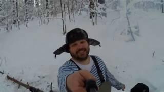 дядя Vitalika Ignatyuka - охота на дикую курицу!