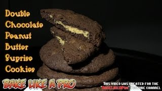 Double Chocolate Peanut Butter Surprise Cookies Recipe