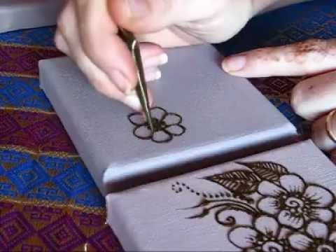 Henna Application On Canvas Youtube