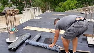Строим дом в Сочи(оклеечная гидроизоляция)