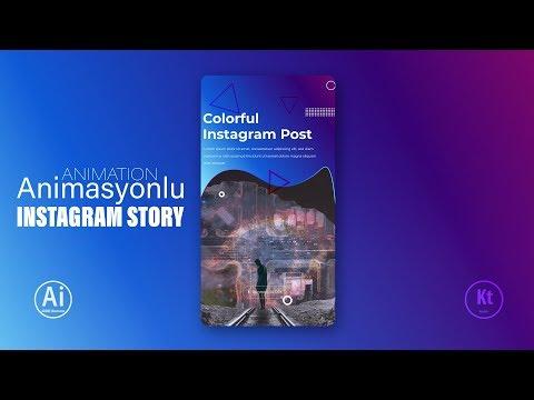 Animasyonlu Instagram Story Design #5 - Adobe Photoshop CC Tutorial thumbnail