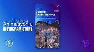 Animasyonlu Instagram Story Design #5 - Adobe Photoshop CC Tutorial