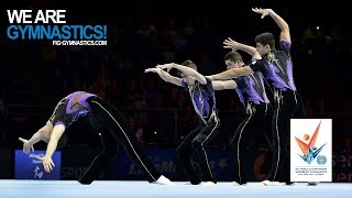 2018 Acrobatic Worlds, Antwerp (BEL) - Highlights MEN'S GROUP FINAL - We Are Gymnastics !
