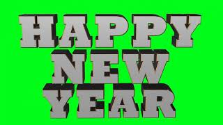Happy New Year 2019 3D Green Screen Effect Free