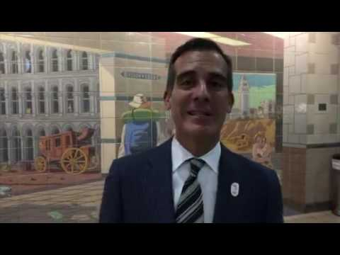 Mayor Eric Garcetti Takes Metro, Talks Measure M