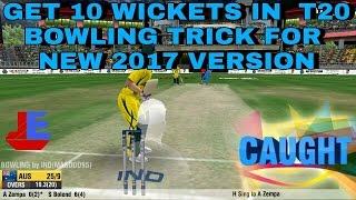 WCC2 T20 Bowling trick , take 10 wickets and win match ||