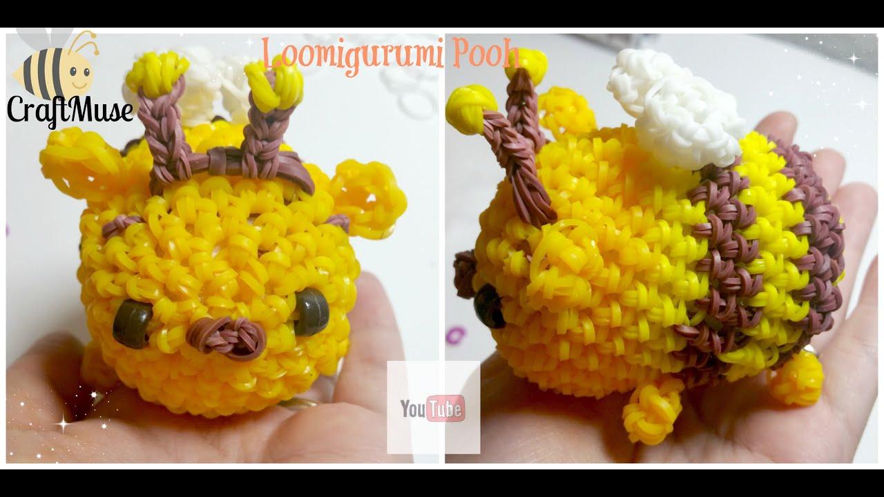 Rainbow Loom Honeybee Pooh Loomigurumi (inspired By Tsum Tsum) Youtube
